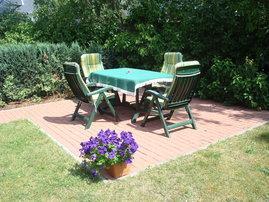 Die gemütliche Terrasse zum Relaxen