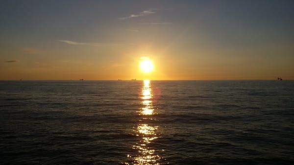 Ein Sonnenuntergang an der Ostsee