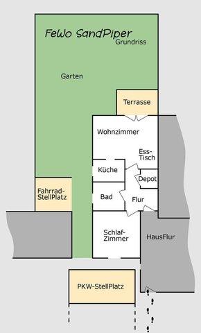 Grundriss der Wohnnung