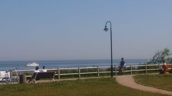 Der Weite Blick Über die Ostsee von der Promenade Nienhagen