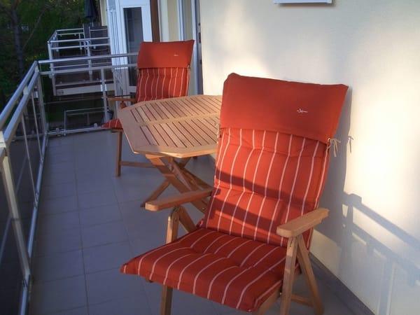Abendsonne genießen auf dem SW-Balkon