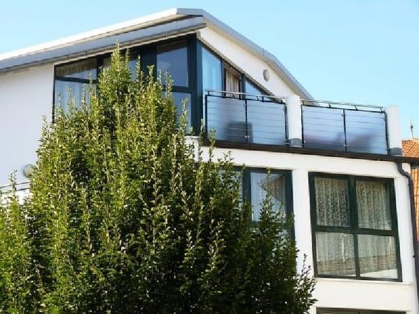Die Südansicht mit Balkon