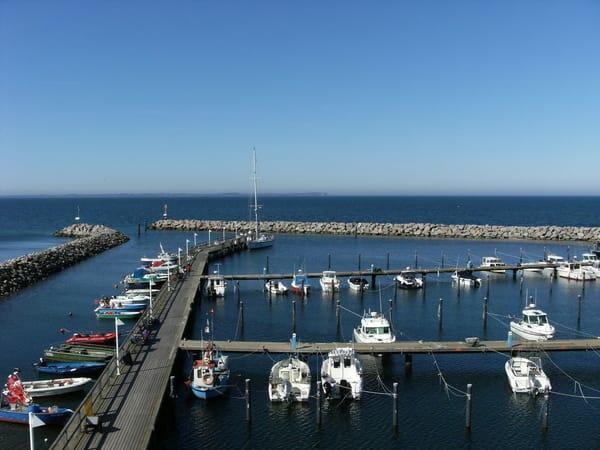 Der Yacht- und Fischereihafen von Glowe