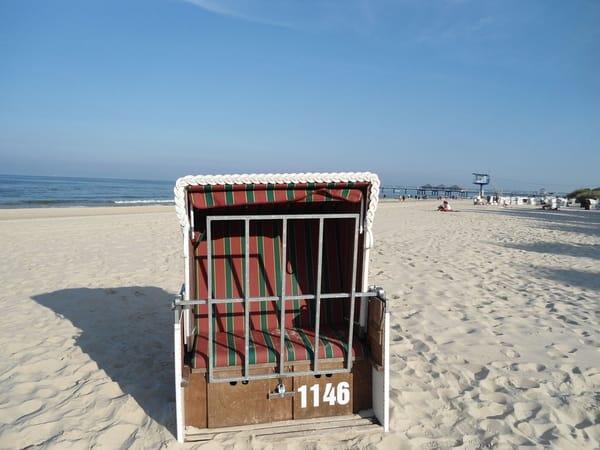Zur Wohnung gehörender Strandkorb