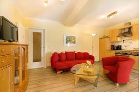 Der komfortable Wohnbereich.