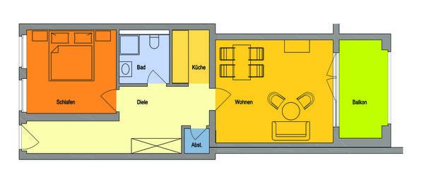 Gesamte Wohnung mit historischer Deckenhöhe,  Schlafzimmer Waldseite