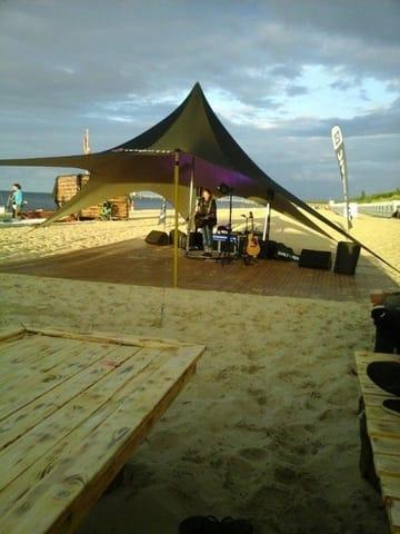 Livemusik am Strand