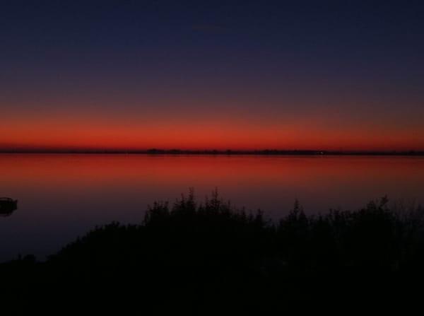 Sonnenuntergang vom Objekt aus beobachtet