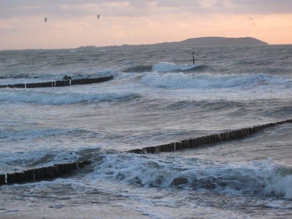 Ostseeseite Dranske mit Hiddenseeblick