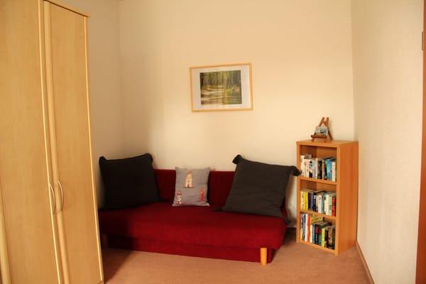Im Schlafzimmer eine zusätzliche Doppelliege für Familien mit Kindern