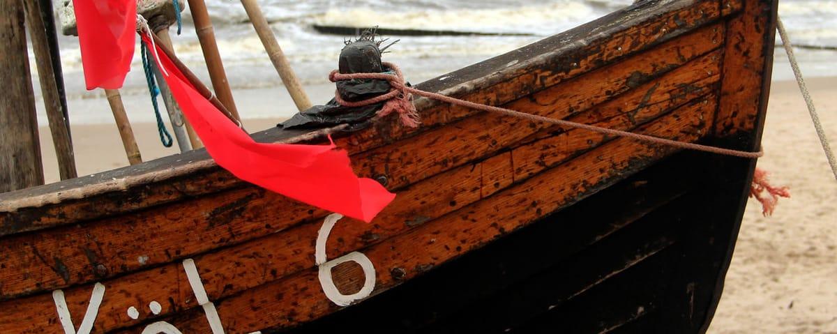 Strandfischer gibt es nur auf der Insel Usedom - ein beliebtes Fotomotiv