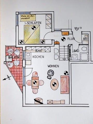 Zimmerplan der Wohnung.