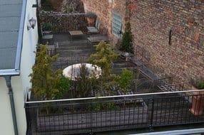 Blick auf die Dachterrasse zur alleinigen Nutzung