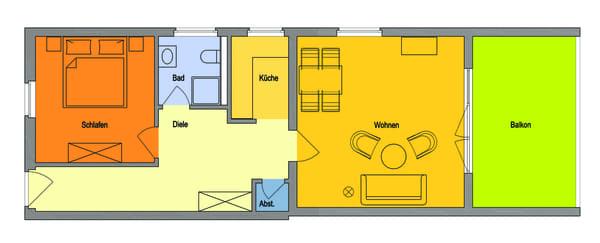 Großzügige große Wohnung, sehr großer Balkon