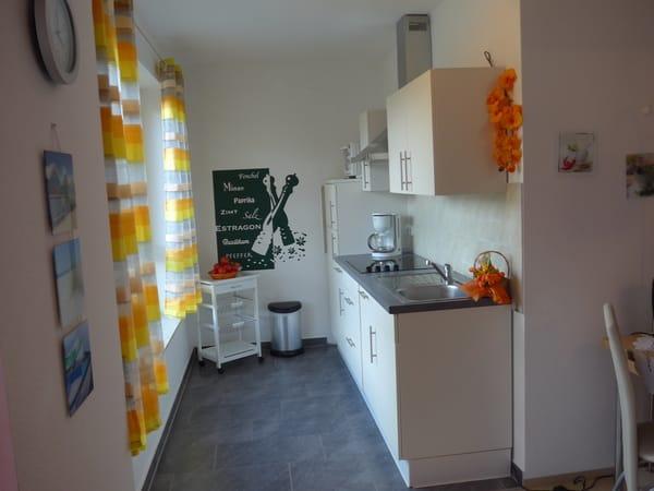 offene Küche zum Wohnzimmer