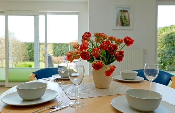 Esstisch im Wohnbereich für 4 Personen