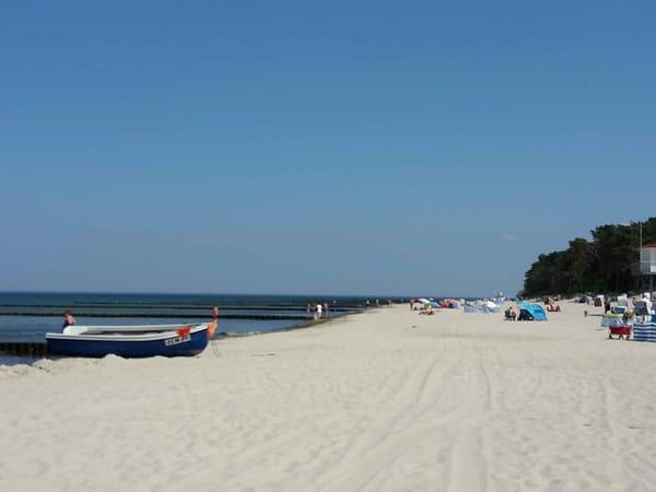 feinsandiger Ostseestrand auf der Insel Usedom