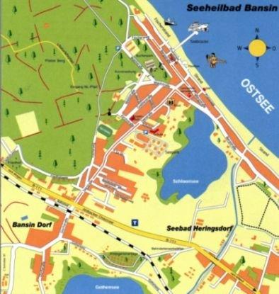 Lageplan, mittendrin zwischen Strand und Einkaufsmöglichkeiten, hier geht alles zu Fuss.