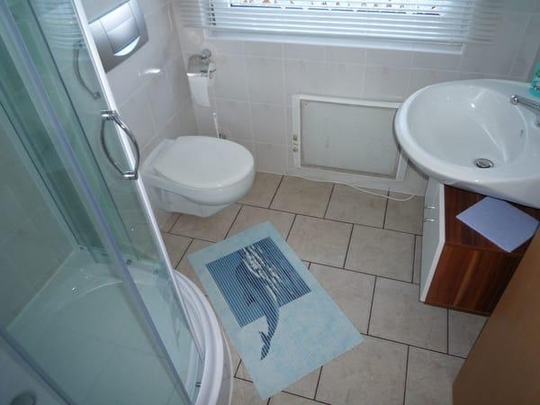 das Bad mit Dusche & WC