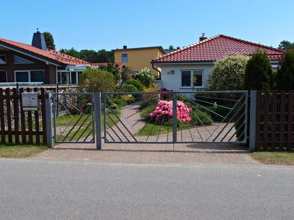 Eingang zu Ihrem Ferienhaus bei Familie Wiencke
