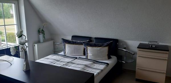 Schlafbereich im Wohn-und Schlafzimmer