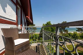 Vom Balkon können Sie einen schönen Blick ...