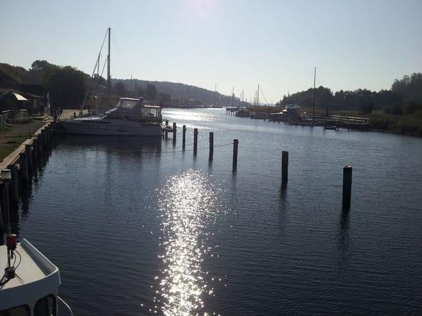 romantischer Seglerhafen am Bodden