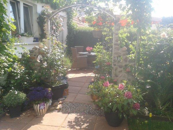 Ausschnitt Innenhof / Garten -  Sitzecke