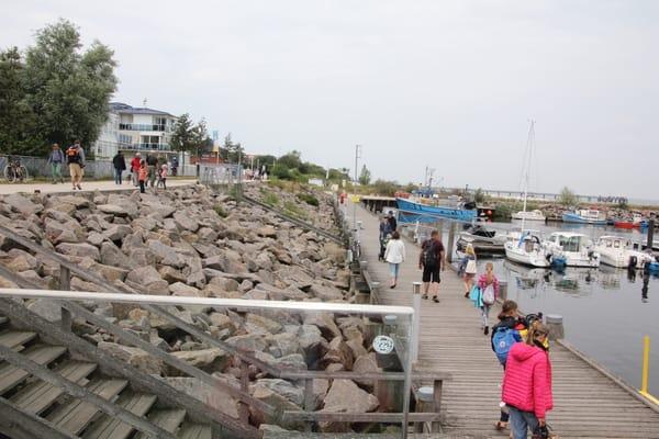 Der Hafen in Ost - Entfernung ca 4 km