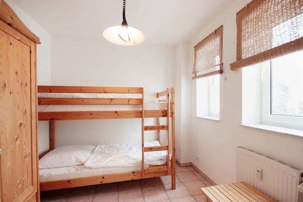 Der zweite Schlafbereich ist mit einem Doppelstockbett ausgestattet.