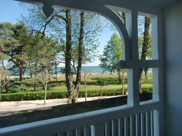 Blick vom Balkon ...