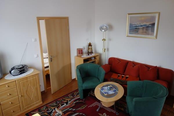 Wohnzimmer echter Teil mit Sofa