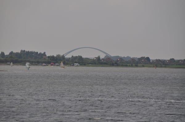 Fehmarnsundbrücke, Sicht vom Balkon