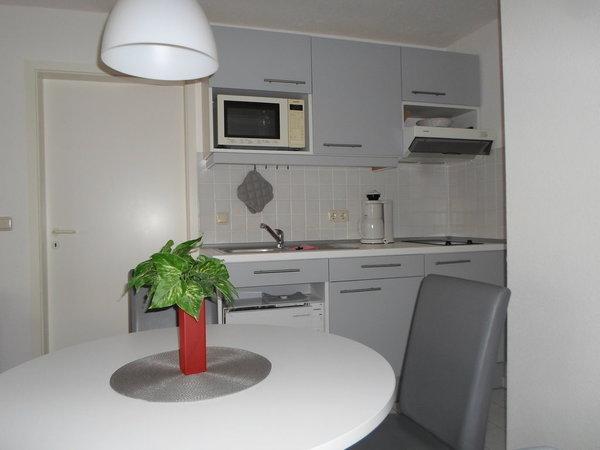 Küchenzeile mit Geschirrspüler, Mikrowelle, Toaster u.v.m.