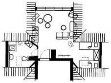 Grundriss Ferienwohnung Atelier