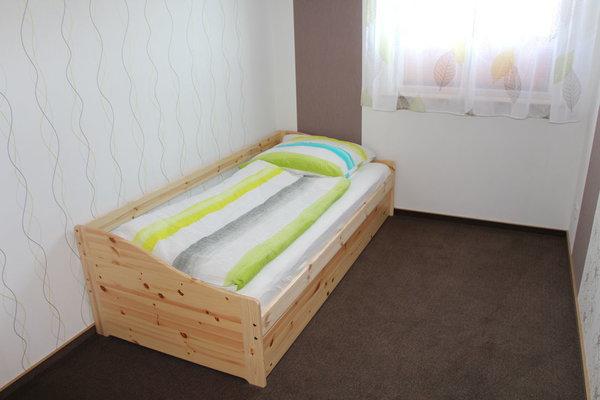 Schlafraum mit ausziehbaren Schlafbett für 2 Personen