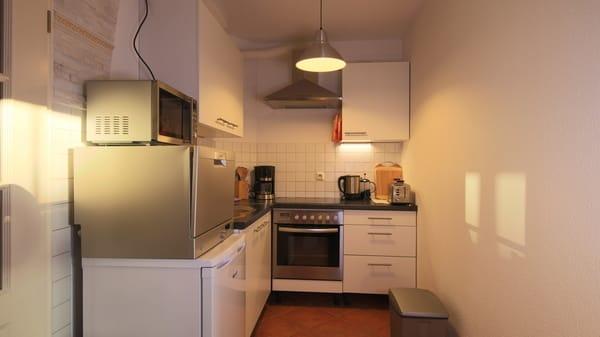die Küche mit allem, was man braucht