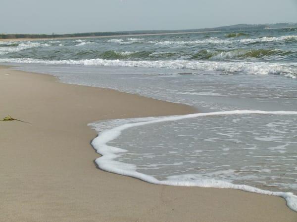 der nahe Strand