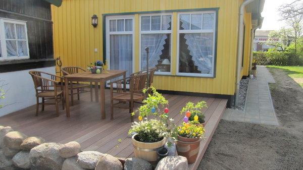 Ansicht Ferienwohnung mit Terrasse