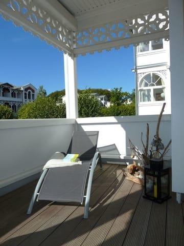 Balkon mit Relaxliege