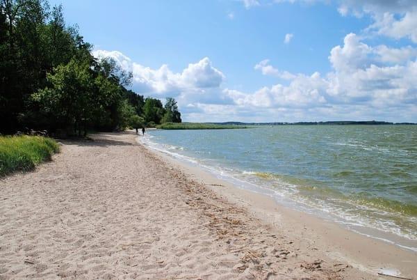 Unser Strand am Achterwasser