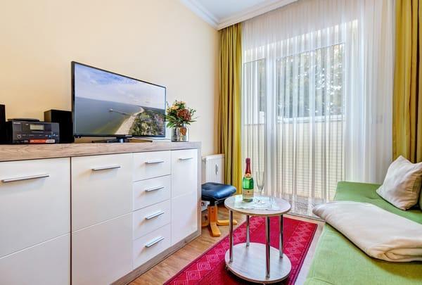 Flat-TV & Terrasse
