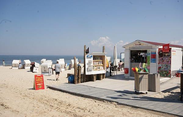 von Mai bis September steht ein eigener Strandkorb zur Verfügung