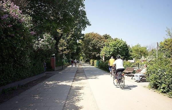 Fahrradweg entlang der Küste
