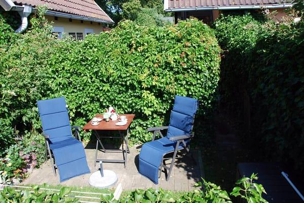 Gartensitzplatz der Ferienwohnung in Alleinnutzung