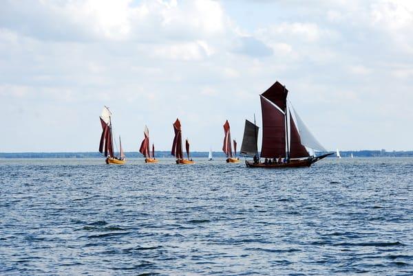 Fischerboot-Regatta auf dem Saaler Bodden