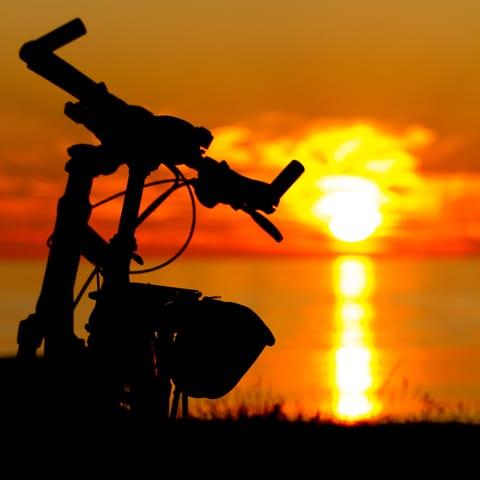 Ende einer Fahrradtour