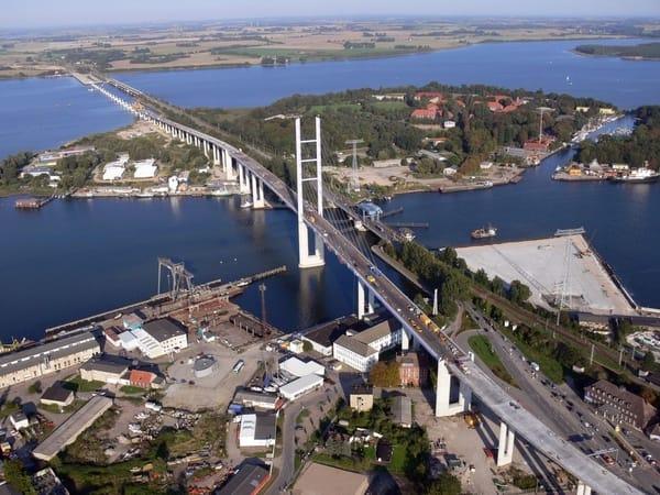 Anfahrt über die Rügenbrücke