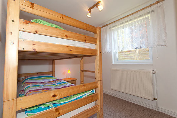 Etagenbett im 2. Schlafzimmer