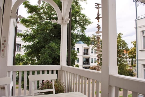 Blick aus dem Strandkorb vom Balkon